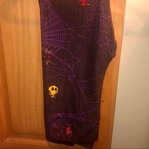NWT OS LLR Halloween Spiderweb Black Leggings